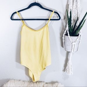 American Apparel Yellow Bodysuit L